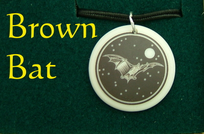 Brown Bat Porcelain Necklace